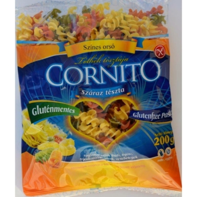 Cornito- Színes orsó tészta gluténmentes 200 gramm